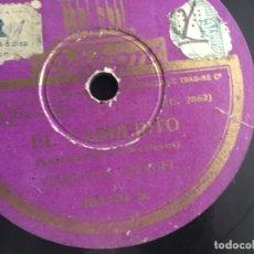 Discos de pizarra: CARLOS GARDEL. EL CARRERITO / ESTA NOCHE ME EMBORRACHO. PIZARRA 10 PULGADAS. Lote 173389000