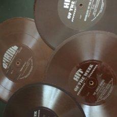 Discos de pizarra: JAZZ. 5 DISCOS DURIUM / HIT OF THE WEEK. FLEXI-DISC. CARTÓN Y VINILO. 24 CM. Lote 173402625