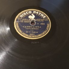 Discos de pizarra: 78 RPM REGIONAL ASTURIANO FERNANDO ARGANZA. Lote 173451803
