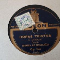 Discos de pizarra: JUSTINA DE MAGALHAES 78 RPM. Lote 173472385