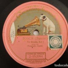 Discos de pizarra: PASQUALE AMATO - TOSCA, TE DEUM, ACT I (PUCCINI) - GRAMOPHONE 2-052094. Lote 173951983