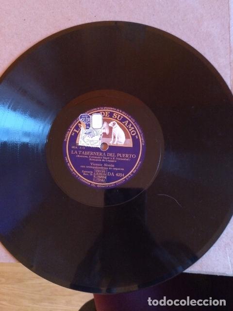 LA TABERNERA DEL PUERTO. MARIA ESPINALT Y VICENTE SIMON. DISCO PIZARRA. (Música - Discos - Pizarra - Flamenco, Canción española y Cuplé)
