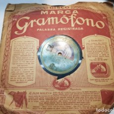 Discos de pizarra: DISCO DE PIZARRA-LA ESPAÑA CAÑI-DISCO GRAMOFONO. Lote 174173560
