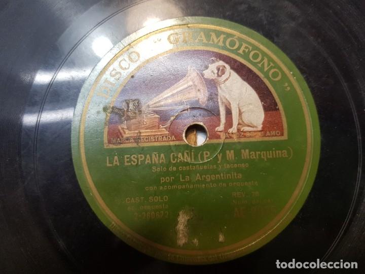 Discos de pizarra: Disco de Pizarra-La España Cañi-Disco Gramofono - Foto 4 - 174173560