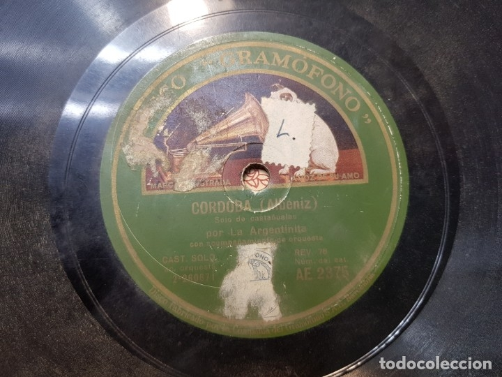 Discos de pizarra: Disco de Pizarra-La España Cañi-Disco Gramofono - Foto 5 - 174173560