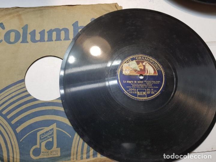 Discos de pizarra: Disco de Pizarra-Rosa Peregrina-Disco Gramofono - Foto 3 - 174174088