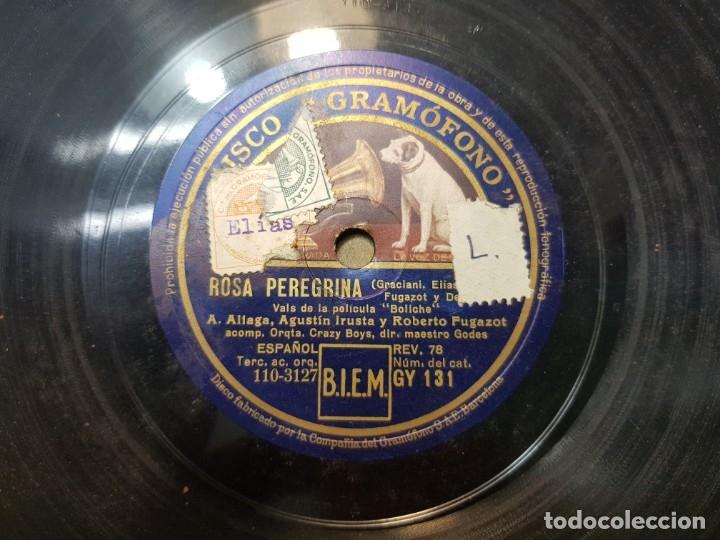 Discos de pizarra: Disco de Pizarra-Rosa Peregrina-Disco Gramofono - Foto 5 - 174174088