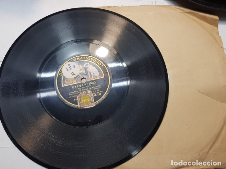 Discos de pizarra: Disco de Pizarra-Carmen-Disco Gramofono - Foto 3 - 174174479