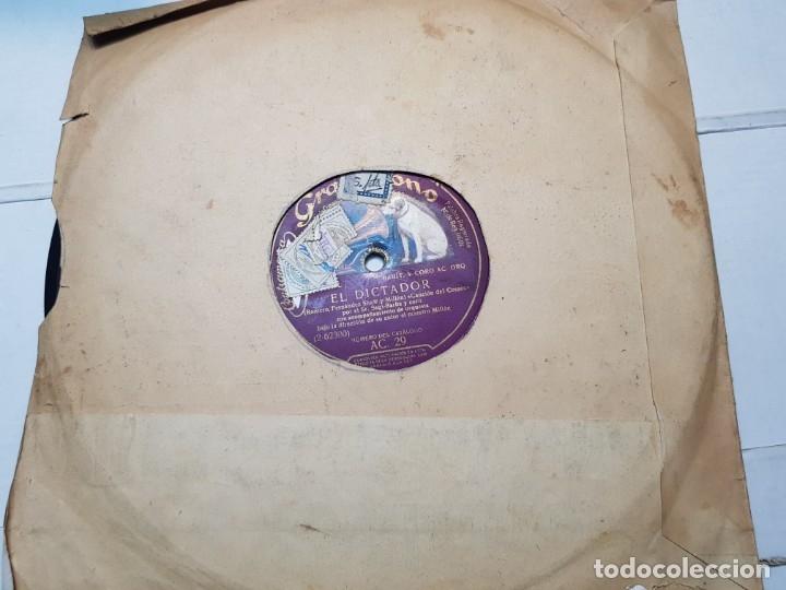 Discos de pizarra: Disco de Pizarra-El Dictador-Disco Gramofono - Foto 2 - 174174880