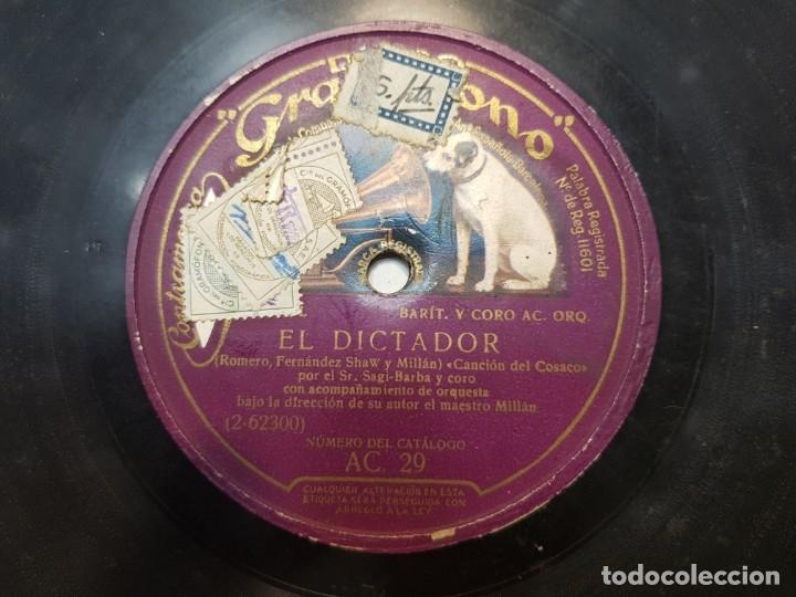 Discos de pizarra: Disco de Pizarra-El Dictador-Disco Gramofono - Foto 4 - 174174880