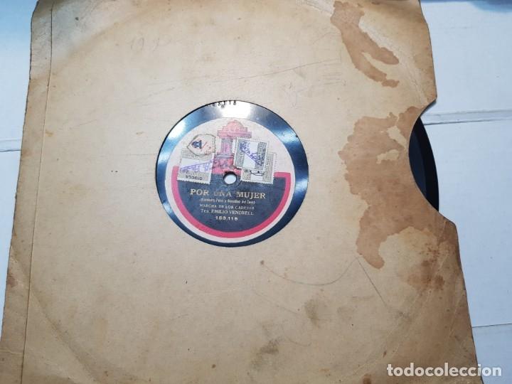 DISCO DE PIZARRA-POR UNA MUJER-DISCO ODEON (Música - Discos - Pizarra - Flamenco, Canción española y Cuplé)