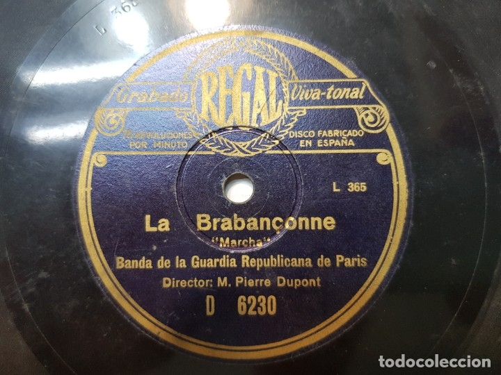 Discos de pizarra: Disco de Pizarra-La Marsellesa-Disco REGAL - Foto 4 - 174177434