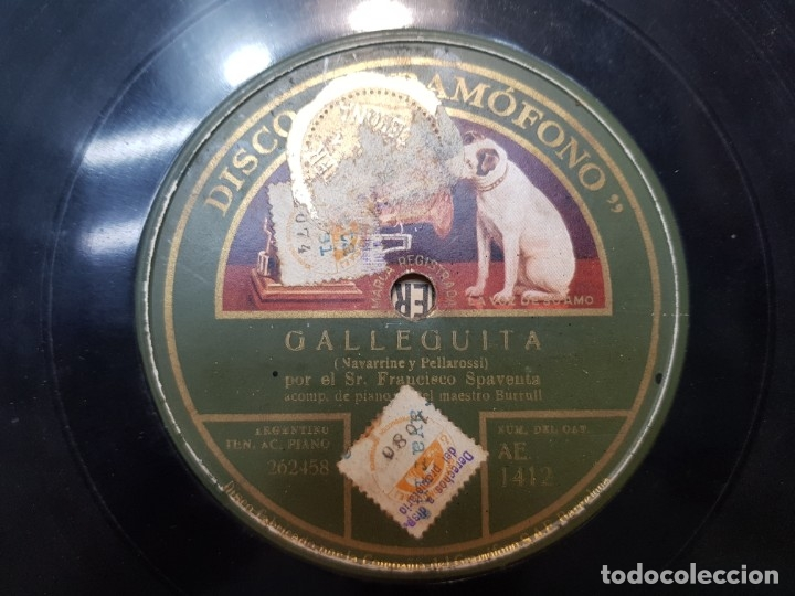 Discos de pizarra: Disco de Pizarra-Galleguita-Disco GRAMOFONO - Foto 3 - 174177695