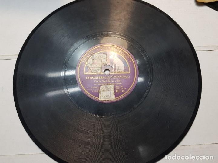 DISCO DE PIZARRA-LA CALERESA-DISCO GRAMOFONO (Música - Discos - Pizarra - Flamenco, Canción española y Cuplé)