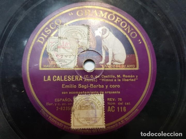 Discos de pizarra: Disco de Pizarra-La Caleresa-Disco GRAMOFONO - Foto 2 - 174177983