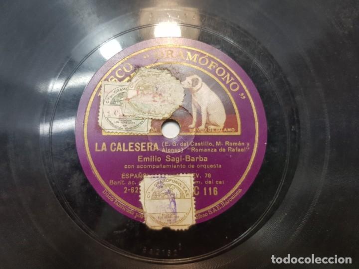 Discos de pizarra: Disco de Pizarra-La Caleresa-Disco GRAMOFONO - Foto 3 - 174177983