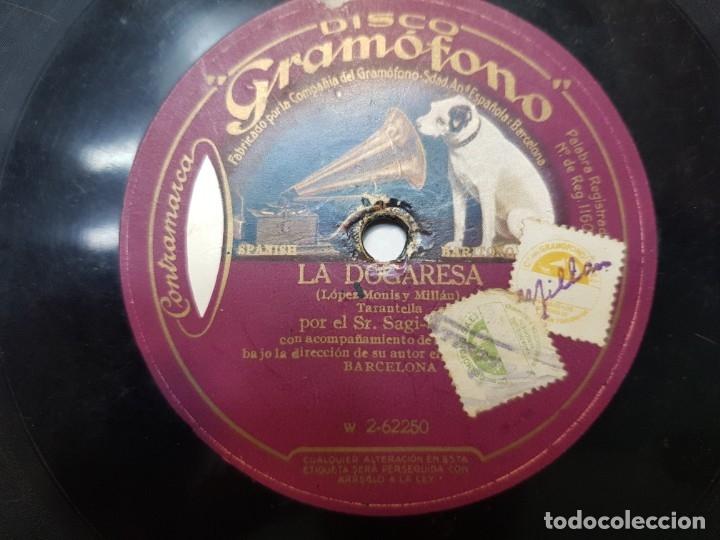 Discos de pizarra: Disco de Pizarra-La Dogaresa-Disco GRAMOFONO - Foto 2 - 174178129