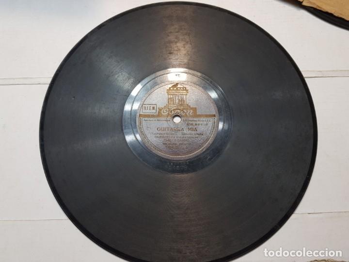 DISCO DE PIZARRA-GUITARRA MIA-DISCO ODEON (CARLOS GARDEL) (Música - Discos - Pizarra - Flamenco, Canción española y Cuplé)