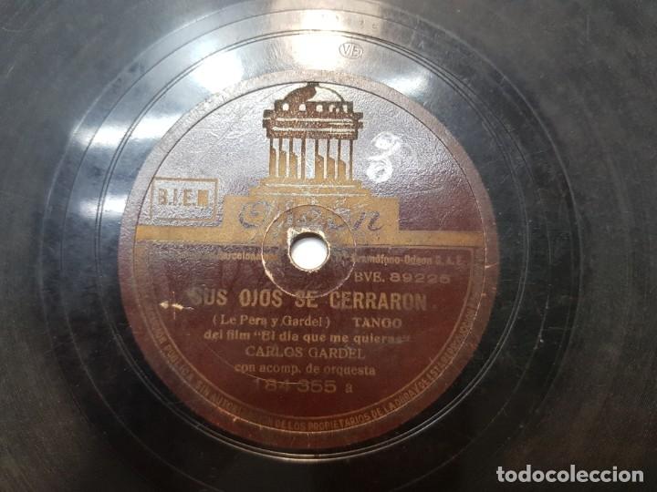 Discos de pizarra: Disco de Pizarra-Guitarra Mia-Disco ODEON (Carlos Gardel) - Foto 3 - 174178633