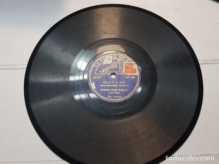 DISCO DE PIZARRA-ALOHA OE-DISCO LA VOZ DE SU AMO (Música - Discos - Pizarra - Flamenco, Canción española y Cuplé)