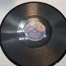 Discos de pizarra: DISCO DE PIZARRA-ALOHA OE-DISCO LA VOZ DE SU AMO. Lote 174178887