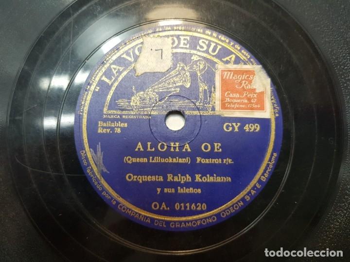Discos de pizarra: Disco de Pizarra-ALOHA OE-Disco LA VOZ DE SU AMO - Foto 2 - 174178887