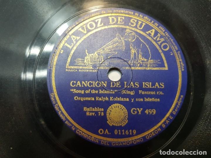 Discos de pizarra: Disco de Pizarra-ALOHA OE-Disco LA VOZ DE SU AMO - Foto 3 - 174178887