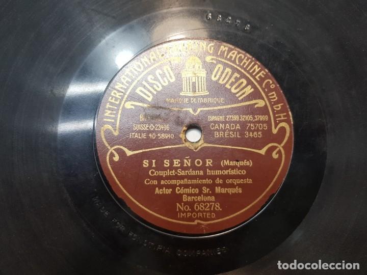 Discos de pizarra: Disco de Pizarra-SI SEÑOR-Disco ODEON - Foto 2 - 174179234
