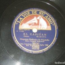 Discos de pizarra: ORQUESTA SINFONICA DE FILADELFIA - PIZARRA . Lote 174296295