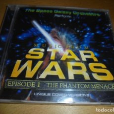 Discos de pizarra: RAR CD. THE SPACE GALAXY ORCHESTRA. MUSIC FROM STAR WARS. EPISODE I. THE PHANTOM MENACE. 17 TRACKS. . Lote 174366304