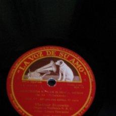 Discos de pizarra: R1/DISCO SIN FUNDA /30CM/ PARA GRAMÓFONO/LA VOZ DE SU AMO/ODEON/CONCIERTO. Lote 195256607