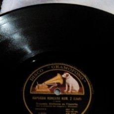 Discos de pizarra: R7/DISCO SIN FUNDA /30CM/ PARA GRAMÓFONO/78 REV/RAPSODIA HÚNGARA NUMERO 2. Lote 198486462