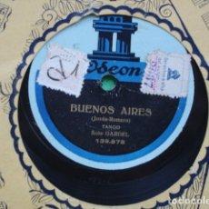 Discos de pizarra: CARLOS GARDEL BUENOS AIRES.ROSAL VIEJO. Lote 174901442
