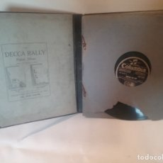Discos de pizarra: ANTIGUO ESTUCHE DE DISCOS DE PIZARRA PARA PARLOPHONE DECCA . Lote 175205455