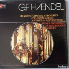Discos de pizarra: L.P. VINILO. DE G.F. HAENDEL, KONZERTE FUR ORGEL Y ORCHESTER COLLEGIUM AUREUM. 4 DISCOS, NUEVO. Lote 175732148
