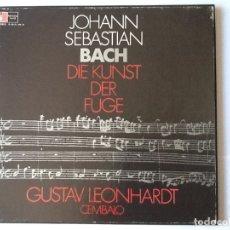 Discos de pizarra: L.P. VINILO. DE JOHANN SEBASTIAN BACH, EL ARTE DE LA FUGA, DIE KUNST DER FUGE GUSTAV LEONHAR 2 DISCO. Lote 175804819