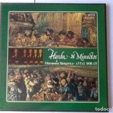 Discos de pizarra: L.P. VINILO DE HAYDN, 24 MINUETOS. FILARMONÍA HUNGÁRICA- DIRECTOR, ANTAL DORATI. CON 2 DISCOS, NUEVO. Lote 175805970