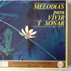 Discos de pizarra: L.P. VINILO. MELODÍAS PARA VIVIR Y SOÑAR. CON 12 DISCOS, NUEVO. VER CONTRATAPA CON LOS TÍTULOS.. Lote 175814442