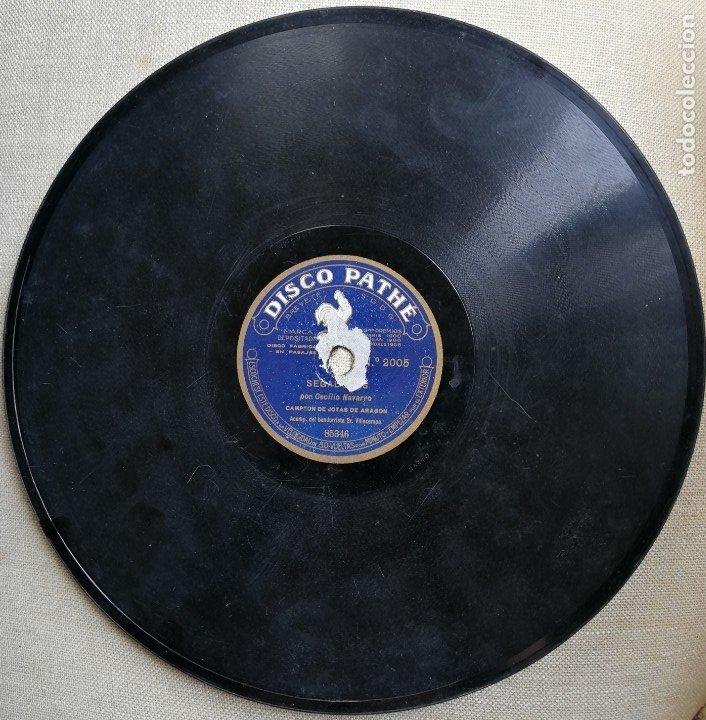 JOTA DE RONDADERA/SEGADERAS.CECILIO NAVARRO.CAMPEON JOTAS ARAGON.DISCO PIZARRA GRAMOFONO.ARAGONESAS. (Música - Discos - Pizarra - Flamenco, Canción española y Cuplé)