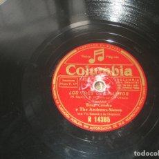 Discos de pizarra: BING CROSBY Y ANDREWS SISTERS - LOS TRES CABALLEROS - LA CANTINA DE HOLLYWOOD. Lote 176167049