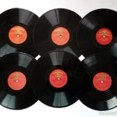 Discos de pizarra: LOTE DE 6 DISCOS EDITADOS EN LA URSS - 78 RPM - DIÁMETRO 25 CM - 10 PULGADAS - GRAMÓFONO - CCCP. Lote 176193467