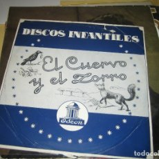 Discos de pizarra: EL CUERVO Y EL ZORRO - PIZARRA , DIRECTOR J. CASAS AUGE . Lote 176197588