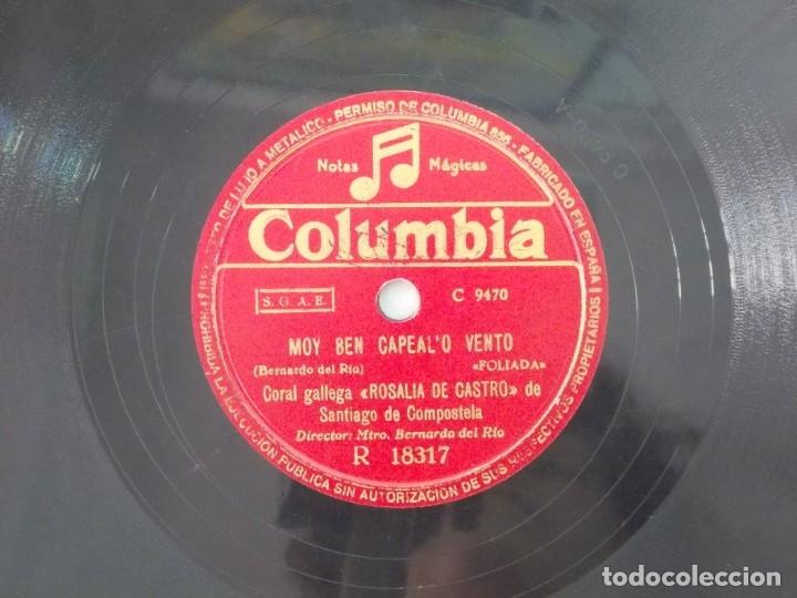 Discos de pizarra: ANTIGUO DISCO DE PIZARRA GALLEGO CORAL ROSALIA DE CASTRO -A VIRXE DE GUADALUPE- MOY BEN CAPEAL - Foto 4 - 176685257