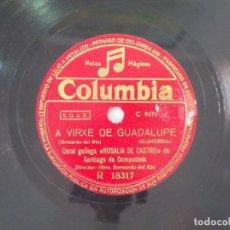 Discos de pizarra: ANTIGUO DISCO DE PIZARRA GALLEGO CORAL ROSALIA DE CASTRO -A VIRXE DE GUADALUPE- MOY BEN CAPEAL. Lote 176685257