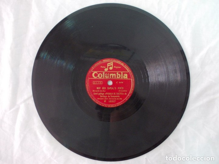 Discos de pizarra: ANTIGUO DISCO DE PIZARRA GALLEGO CORAL ROSALIA DE CASTRO -A VIRXE DE GUADALUPE- MOY BEN CAPEAL - Foto 3 - 176685257