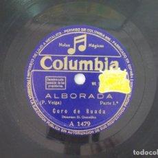 Discos de pizarra: ANTIGUO DISCO DE PIZARRA GALLEGO CORO DE RUADA -ALBORADA -. Lote 176686683