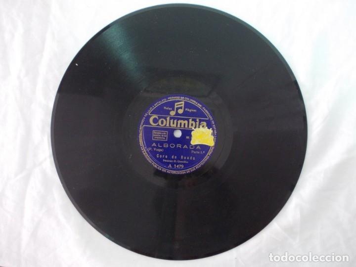 Discos de pizarra: ANTIGUO DISCO DE PIZARRA GALLEGO CORO DE RUADA -ALBORADA - - Foto 2 - 176686683