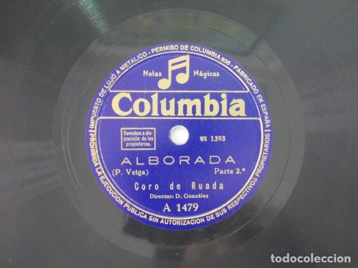Discos de pizarra: ANTIGUO DISCO DE PIZARRA GALLEGO CORO DE RUADA -ALBORADA - - Foto 3 - 176686683
