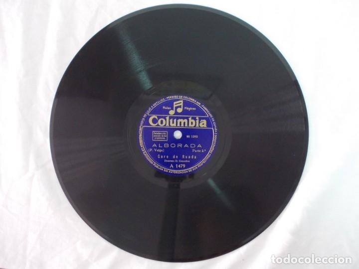 Discos de pizarra: ANTIGUO DISCO DE PIZARRA GALLEGO CORO DE RUADA -ALBORADA - - Foto 4 - 176686683