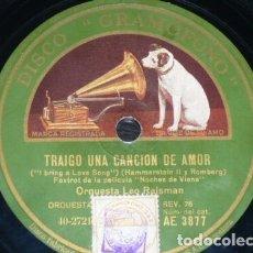Discos de pizarra: DISCO 78 RPM - GRAMOFONO - ORQUESTA LEO REISMAN - FILM - NOCHES DE VIENA - FOXTROT - PIZARRA. Lote 176689273